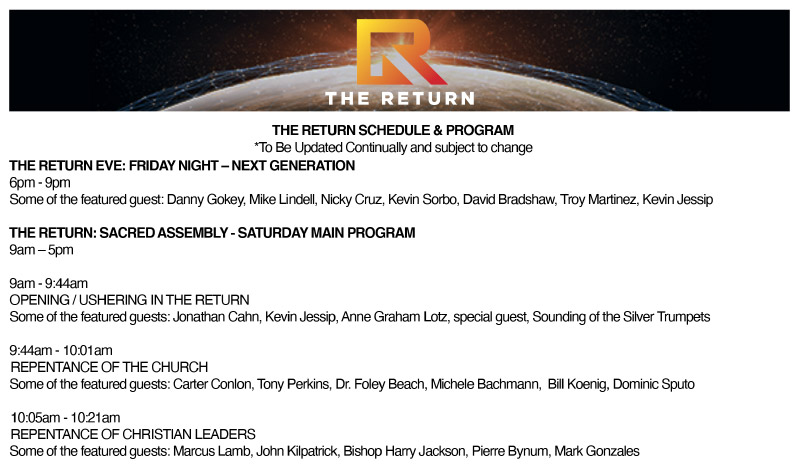 The Return Schedule